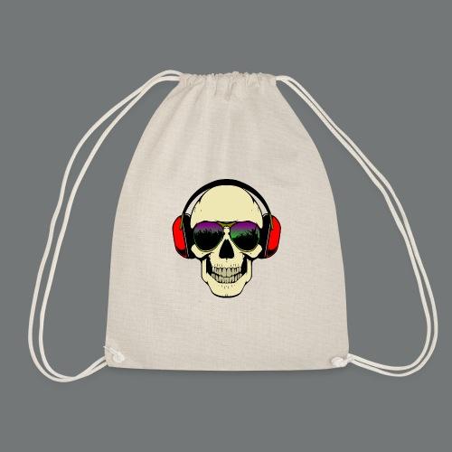 skull dj - Drawstring Bag