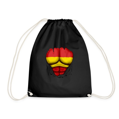 España Flag Ripped Muscles six pack chest t-shirt - Drawstring Bag
