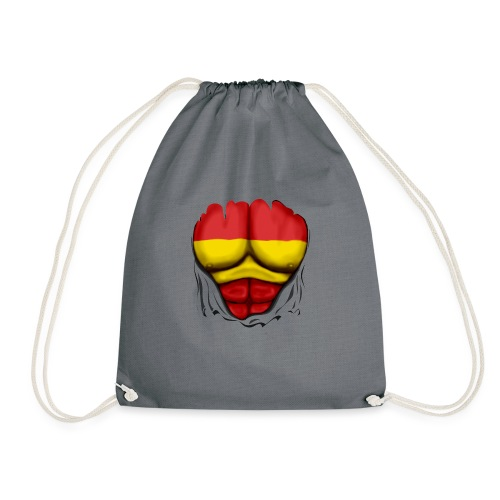 España Flag Ripped Muscles six pack chest t-shirt - Drawstring Bag