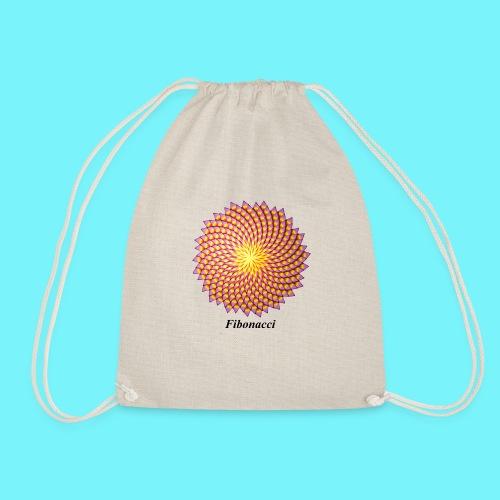 Fibonacci flower - Drawstring Bag