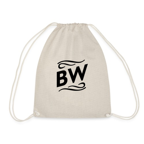 Black BW logo - Gymnastikpåse