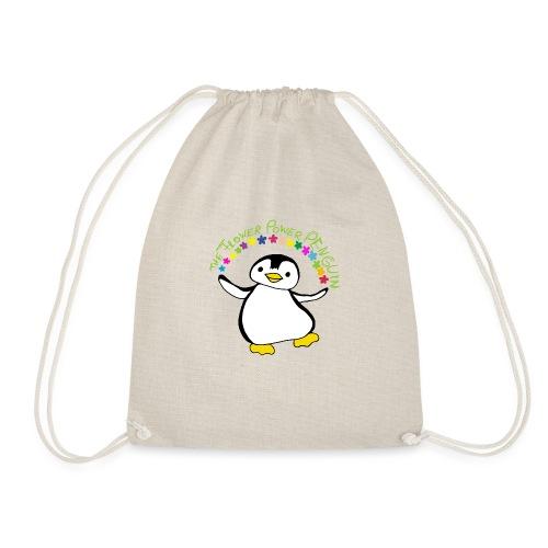Pinguin Flower Power - Turnbeutel