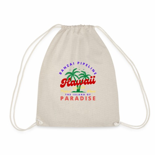 Hawaii Beach Palm Tree Retro Classic T Shirt - Drawstring Bag