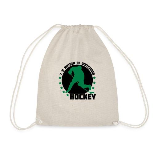 I'd Rather Be Watching Hockey - Drawstring Bag