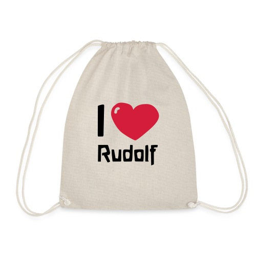 I love Rudolf - Turnbeutel