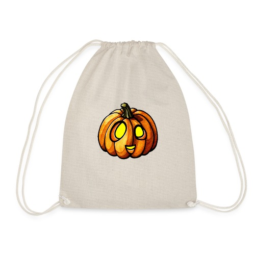 Pumpkin Halloween watercolor scribblesirii - Drawstring Bag