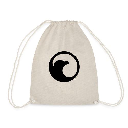 VG Circle Logo Black vect - Drawstring Bag