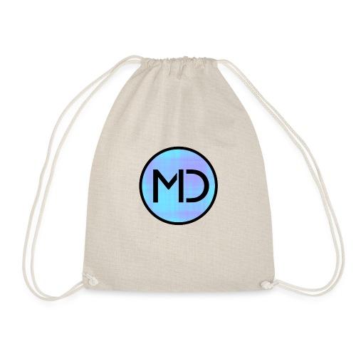 MD Blue Fibre Trans - Drawstring Bag