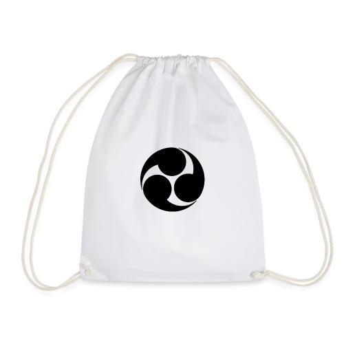 Kobayakawa Mon Japanese clan black - Drawstring Bag