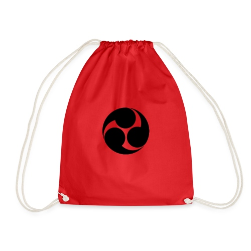 Kobayakawa Mon Japanese clan black - Drawstring Bag