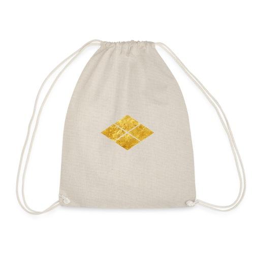 Takeda kamon Japanese samurai clan faux gold - Drawstring Bag