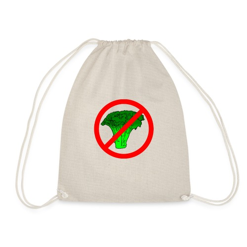 no broccoli allowed - Drawstring Bag