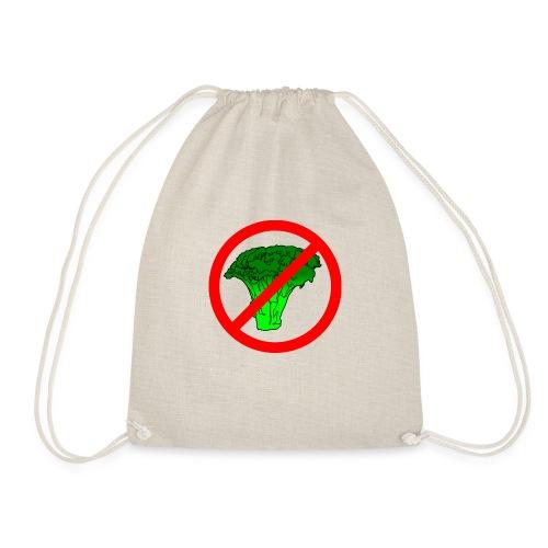 no broccoli allowed - Drawstring Bag