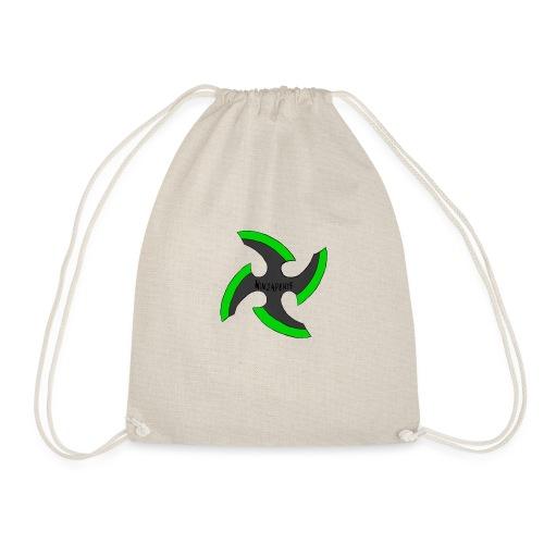 black-ronin-throwing-star-jpg_1 - Drawstring Bag