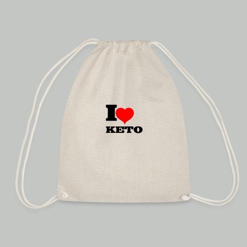 I-LOVE-KETO - Turnbeutel