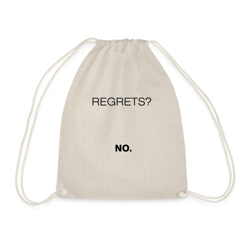 No Regrets - Drawstring Bag