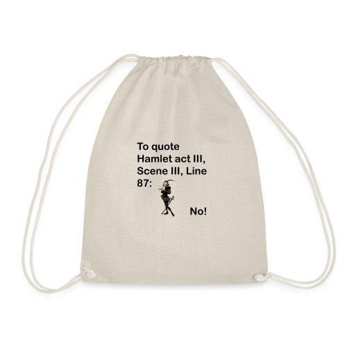 No! - Drawstring Bag