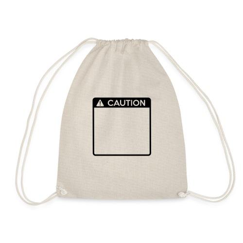Caution Sign (1 colour) - Drawstring Bag
