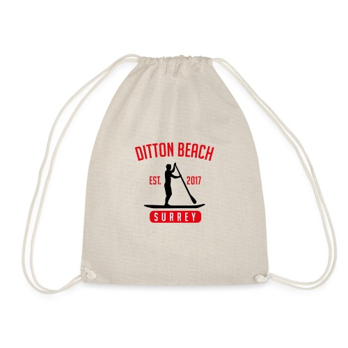 Ditton Beach Logo Final - Drawstring Bag