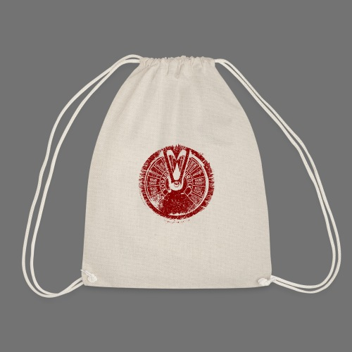 Maschinentelegraph (red oldstyle) - Drawstring Bag