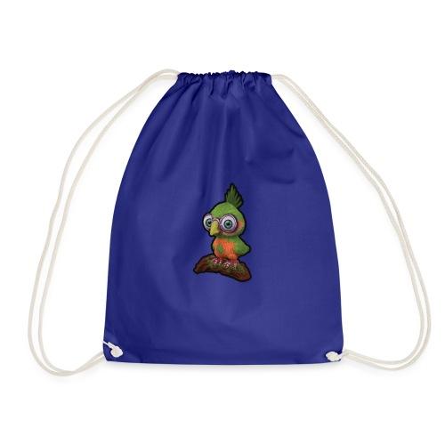 A bird sitting on a branch - Drawstring Bag