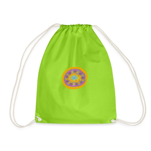 Mandala Pizza - Drawstring Bag