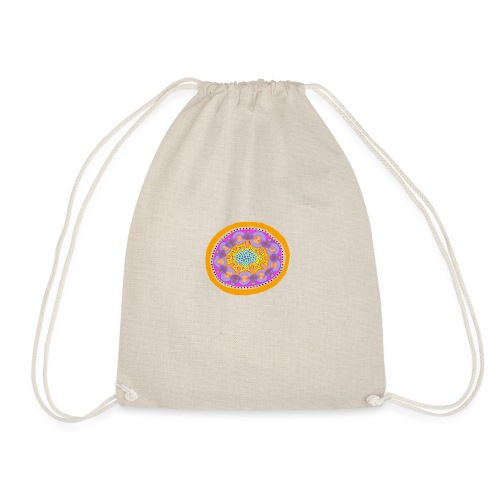 Mandala Pizza - Drawstring Bag
