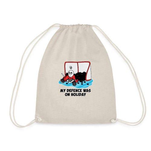 My Defence Was On Holiday - Drawstring Bag