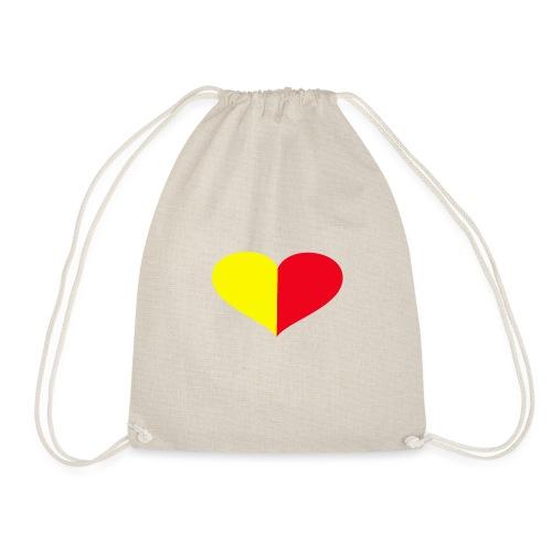 cuore giallorosso pieno - Sacca sportiva