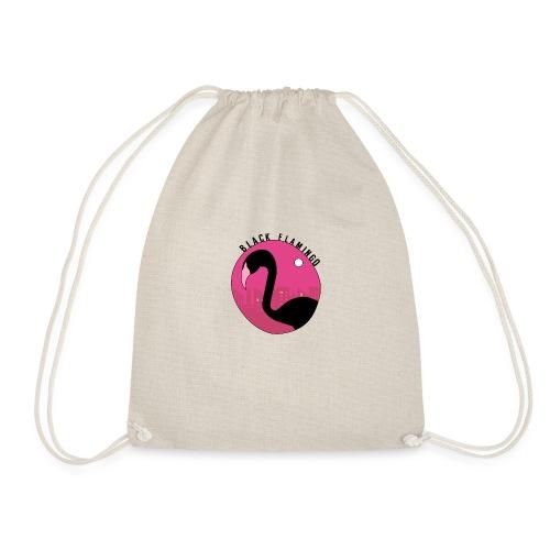 Black Flamingo - Drawstring Bag