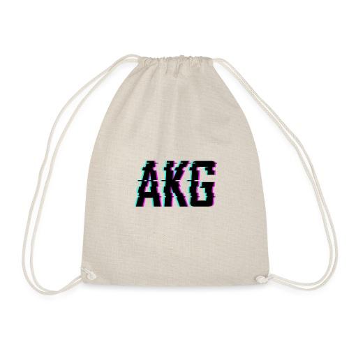 AKG Schwarz Glitched - Turnbeutel