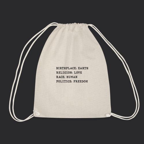 HUMAN - Drawstring Bag