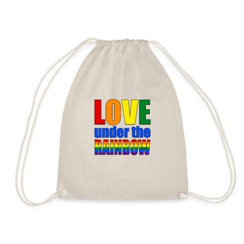 Love under the rainbow - Drawstring Bag