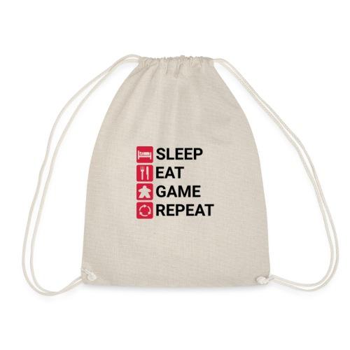 SLEEP, EAT, GAME, REPEAT - Gymbag