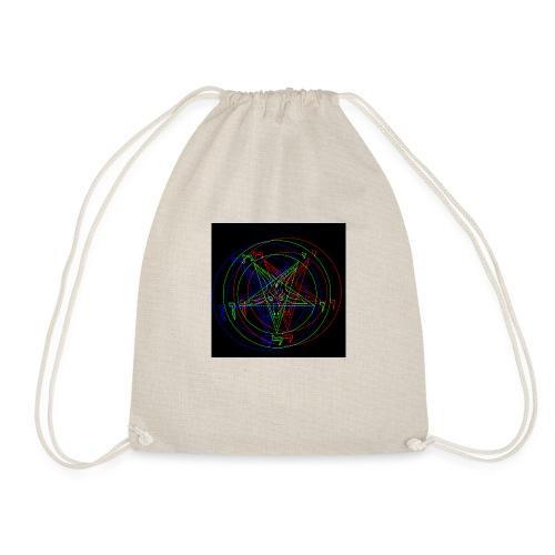 Satan, Pentagram RETRO VHS-Design - Turnbeutel