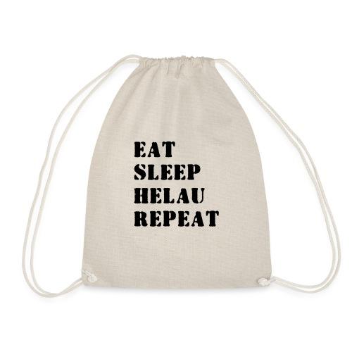 Eat Sleep Repeat - Helau VECTOR - Turnbeutel