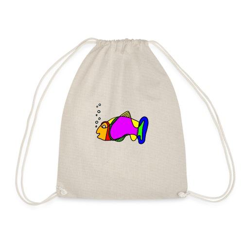 Fisch exit-shirt Tusche Fisch - Turnbeutel