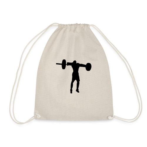 weight_lifting_man_silhouette - Sac de sport léger