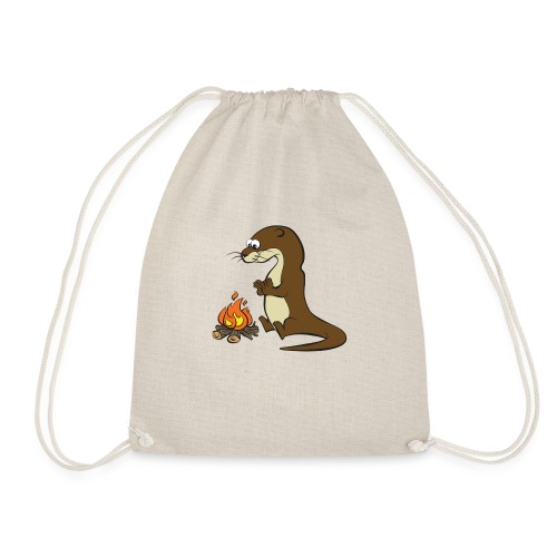 Song of the Paddle; Quentin campfire - Drawstring Bag