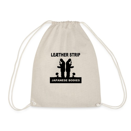 Leaether Strip Japanese Bodies - Drawstring Bag