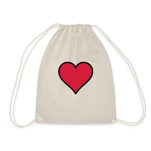 Outline Heart - Drawstring Bag