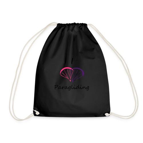 I Love Paragliding V2 - Drawstring Bag