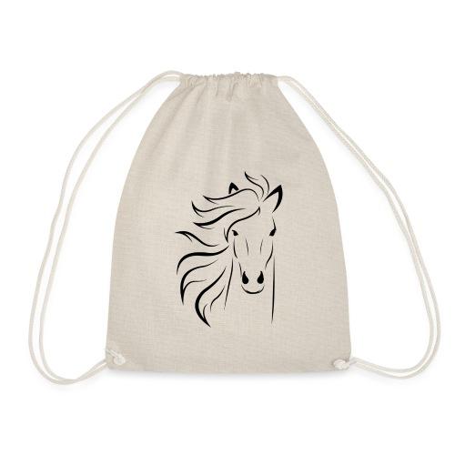 pferd silhouette - Turnbeutel