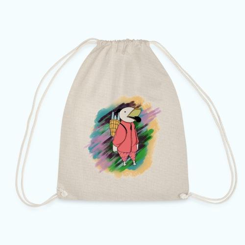 80s Comic Style Graffiti - Drawstring Bag