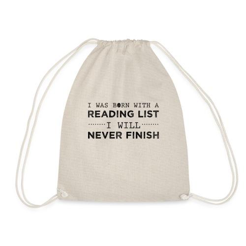 0193 Stapel ungelesener Bücher | Lesen | Leser - Drawstring Bag