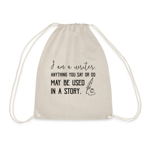 0266 writer | Author | Book | history - Drawstring Bag