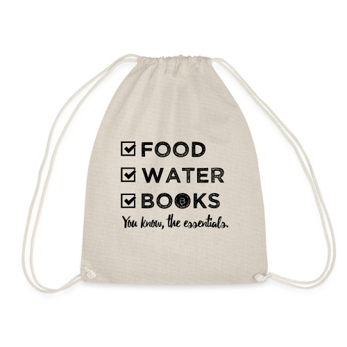 0261 Books, Water & Food - You understand? - Drawstring Bag