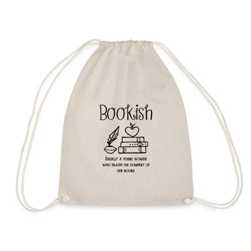 0304 Bookish woman Funny saying books - Drawstring Bag