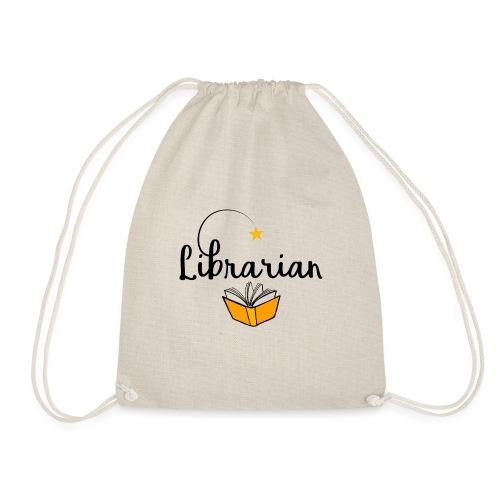 0326 Librarian & Librarian - Drawstring Bag