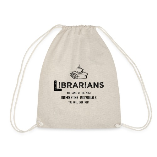 0335 Librarian Cool story Funny Funny - Drawstring Bag